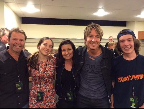 Country music star Troy Cassar-Daley was among fans at Keith Urban's Brisbane show. Photo: Twitter