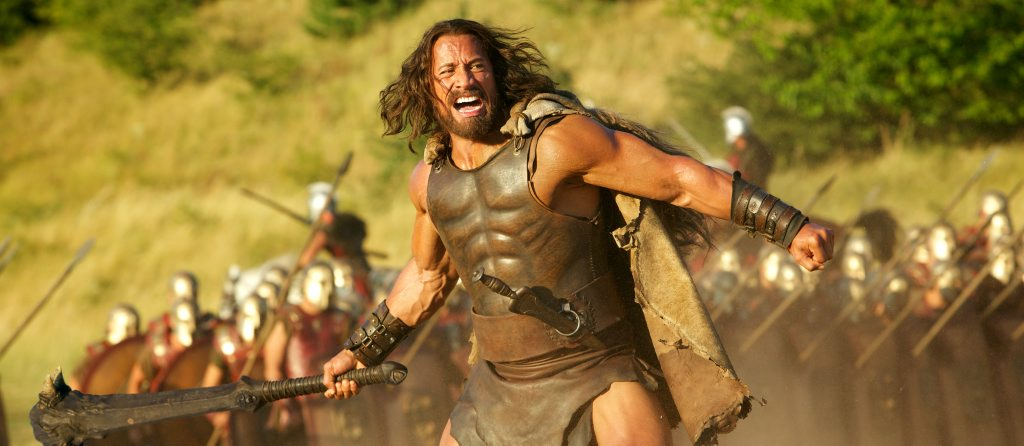 Dwayne Johnson in Hercules.
