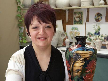 Moorcroft design studio artist Vicky Lovatt will visit Toowoomba to explain how her company creates its works.