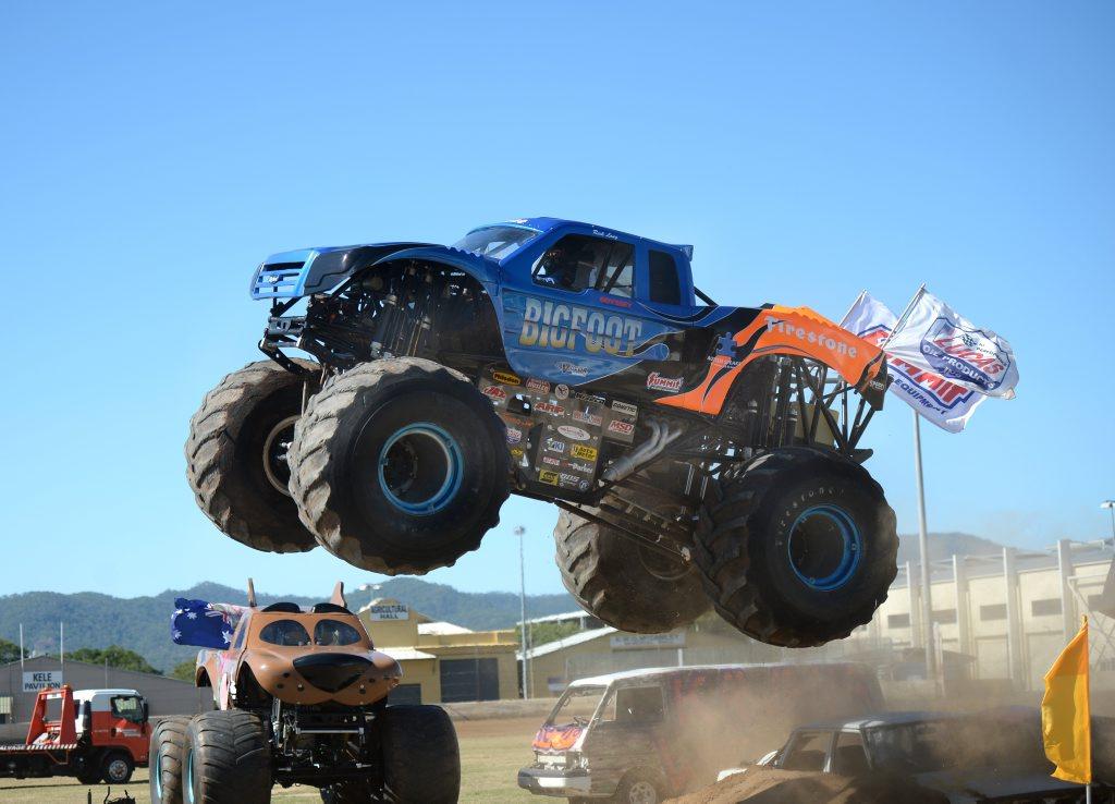 Big Foot at the monster trucks. Photo Amy Haydock / The Morning Bulletin