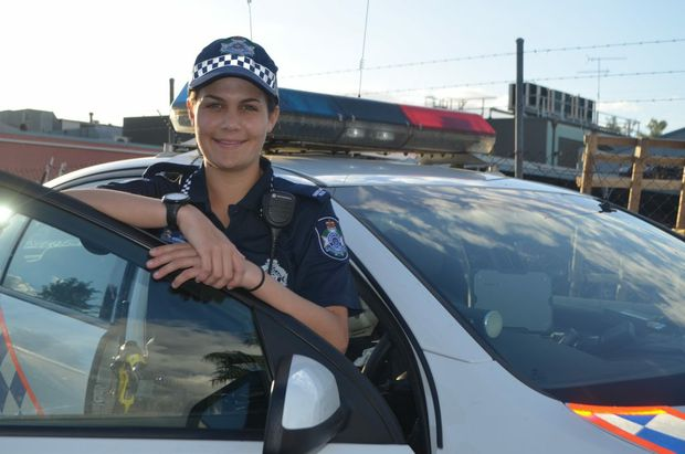 First-year Constable Steph Burrell at the Gatton Police Station. Photo Amy Lyne / Gatton Star