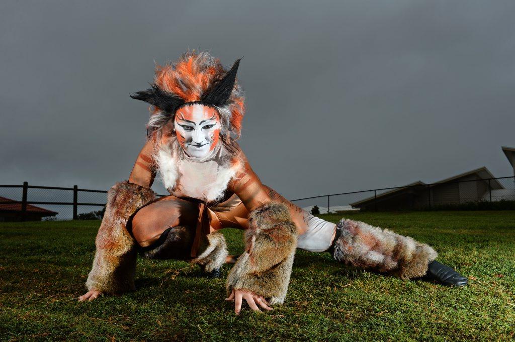 13 year old Natasha Bitancurt is in the play CATS. Photo: John Gass / Tweed Daily News