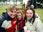 RAINED OFF: Afloat event organisers Ainsley Gatley, Pamela Fisher and Shelley Pisani put on a brave face after the event had to be called off due to bad weather. Photo: Max Fleet / NewsMail