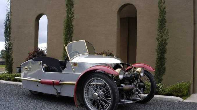The Morgan three-wheeler.