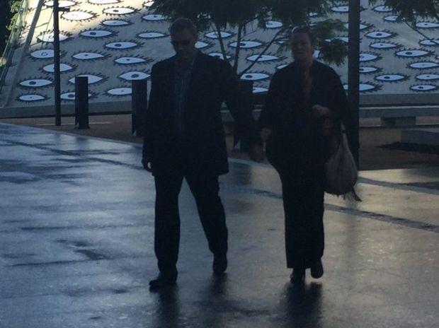 Lismore's Ronald David Williams entering Brisbane District Court to be sentenced over a dishonest investment scheme. Photo Rae Wilson / Newsdesk