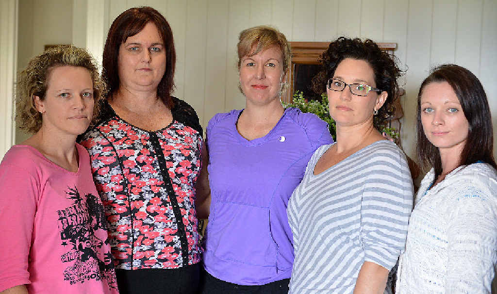 AT HOME: Nicole Millard, Kate Gwilliam, Jody Allen, Lydia Williams and Kylie Briggs are the Stay at Home Mum team.