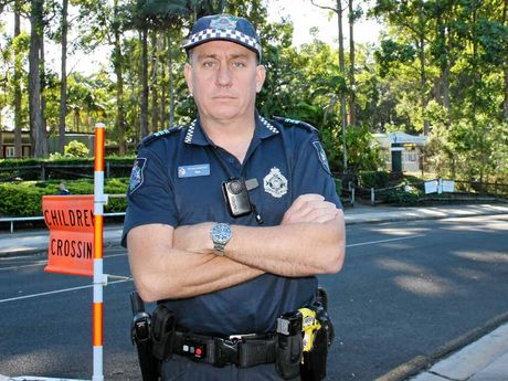 ON THE LOOKOUT: Acting Sergeant Mark Johnston says police are fed up with poor driver behaviour at many schools around the Coast.