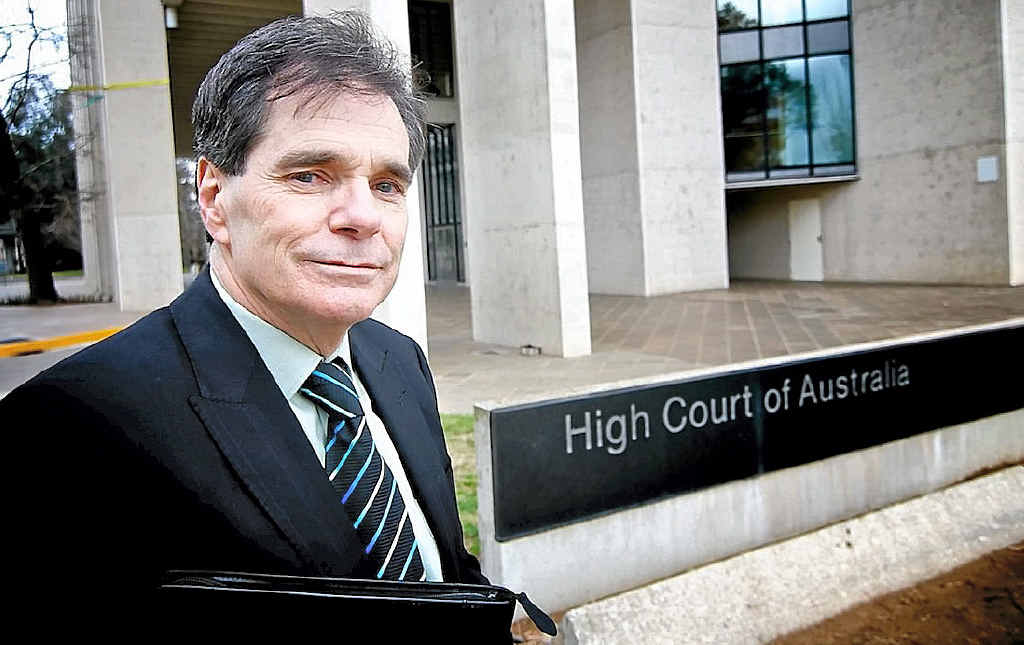 VICTORY: Ron Williams outside the High Court, which ruled that Commonwealth funding for chaplains was unconstitutional.