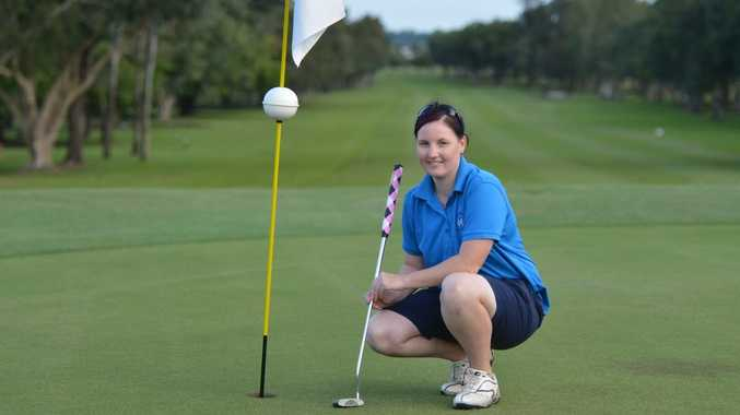 Golfer Sheree Hasson was the winner of the Mackay Toyota Women's Open. Photo Lee Constable / Daily Mercury