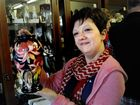 Moorcroft designer Vicky Lovatt, was guest at the Moorcroft Pottery display at Roundabout Antiques.