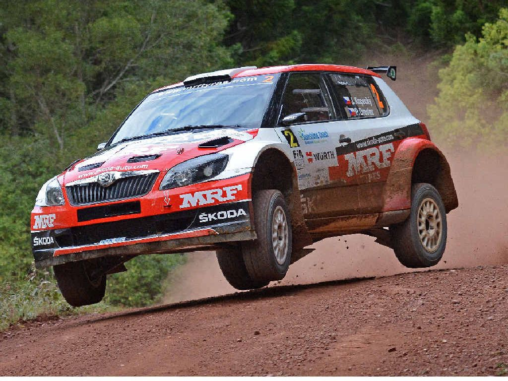 IN FRONT: The Czech Republic's Jan Kopecky leads the International Rally of Queensland after the opening day.