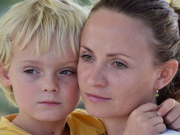 Olga Avershyna with her son Dimitri Macdonald, 4.
