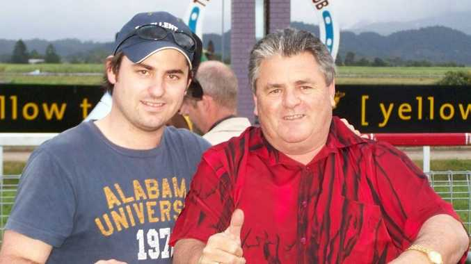 SAD LOSS: Trainer Danny Bowen, right, with his son and stable foreman Daniel during a race meeting at Murwillumbah.
