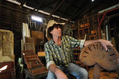 Bill Farrand of Mallanganee loves restoring old things Photo Doug Eaton / The Northern Star