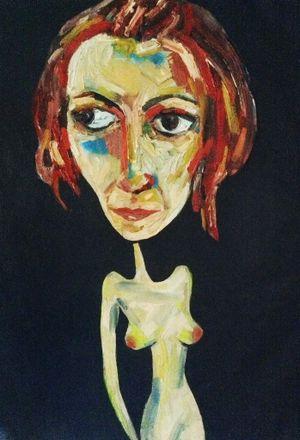Aratula artist Suzy Buhle has entered a self portrait into the prestigious Archibald Prize Photo: Contributed