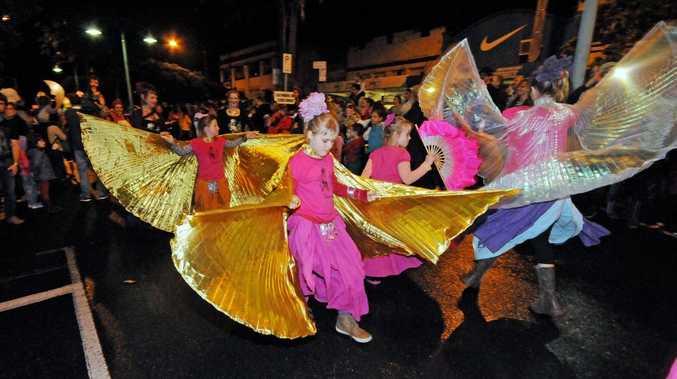The Barefoot Gypies at the Lismore lantern parade. Photo Doug Eaton / The Northern Star