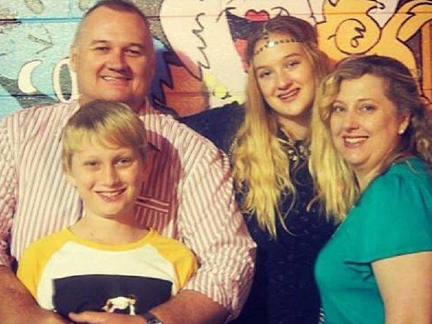 STRONG UNIT: Dad Darren, Elysse, 16, Chandler, 11, and mum Fiona.
