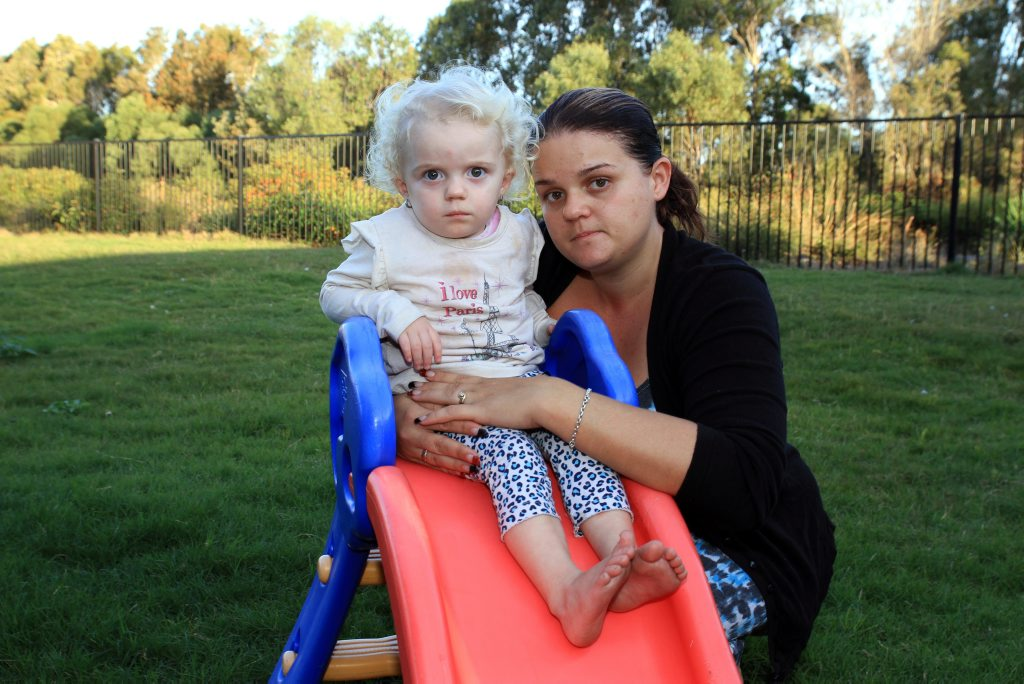 Mum Lyndal Gordon-Daveson was scared for Sophiya's life when she realised her bottle had been switched. Photo Jorge Branco / Caboolture News