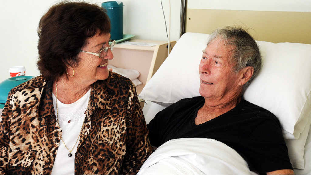 HOSPITAL NEEDED: Joy and Bob Campbell are grateful for the professional care provided by Maryborough's St Stephen's private hospital.
