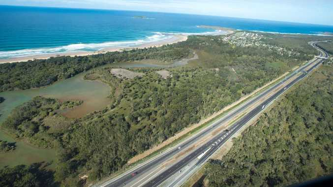 Coffs Coast Advocate photographer Trevor Veale has completed an aerial sweep of the Sapphire to Woolgoolga Pacific Highway upgrade and from the air it stands as an impressive engineering feat.