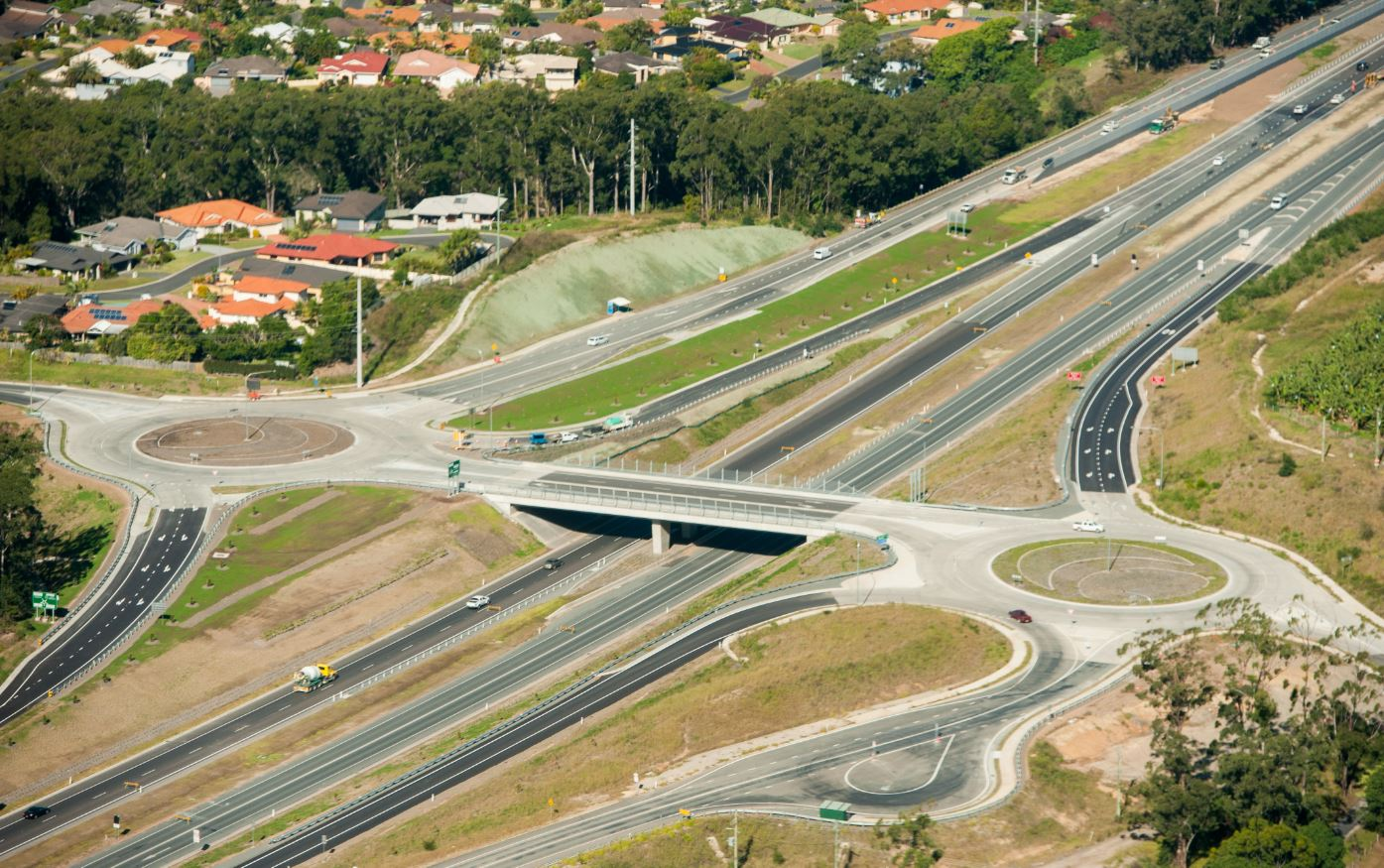 The Gaudrons Rd interchange at Sapphire.