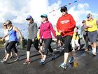 Participants head off on the first leg of the Brooms Head Fun Run on Sunday. Photo Debrah Novak / The Daily Examiner