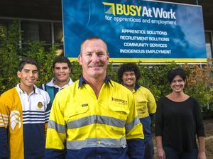 Busy at Work school trainees gain life advice