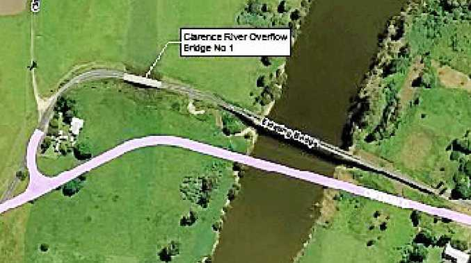 PLANNED ROUTE: A map of where the new Tabulam Bridge will go.