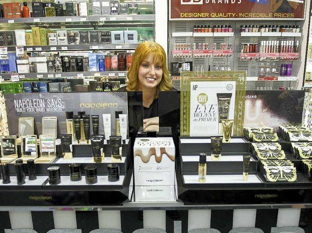 Beauty therapist Vanessa Tocker is a Napoleon Perdis make-up expert at Terry White Chemist in Gladstone.