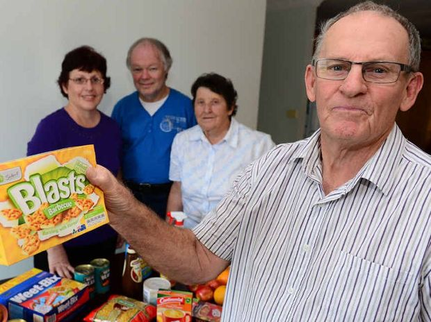 READY TO LEND A HAND: Catherine Payne, John Payne, Glenys Morgan and Selwyn Morgan are aiming to get a new organisation off the ground, Rocky's Helping Hand, which is aimed at providing cheaper groceries for Centrelink card holders and community groups.