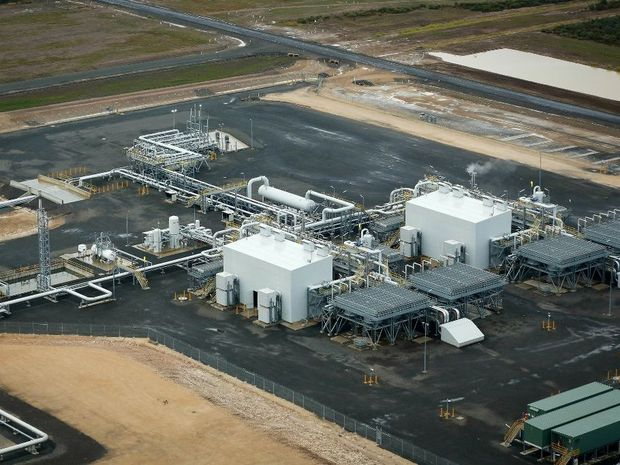 The Ruby Jo gas processing plant west of Dalby.