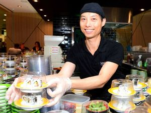 Sushi train rolls into a Rocky ready for new cuisine