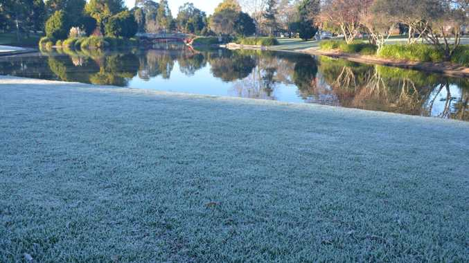 Frost on the way to work Photo Michael Roser / The Chronicle