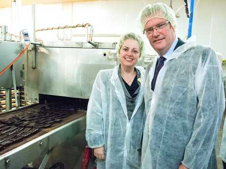 USQ Vice Chancellor Jan Thomas and Minister for Agriculture, fisheries and Forrestries John McVeigh. Photo Contributed