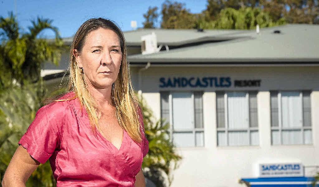 Former owner of Kahunas Bernadette Kerr alleges Sandcastles resort stole her business' equipment.