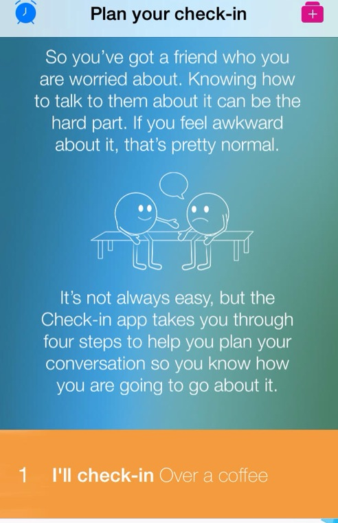 A screenshot of the new Beyondblue app.