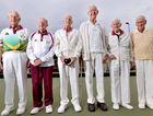 NINETY OR MORE: Buderim Bowls Club's Allan Quartermaine, Ted Field, Ivor Dawkins, Neville Chadwick, Bill Shaw and Cliff Jorgensen are still going strong.