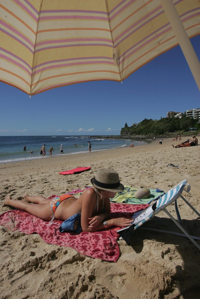 0Moffat Beach, Caloundra, a beautiful day to sunbake Photo: Brett Wortman/bw174508c
