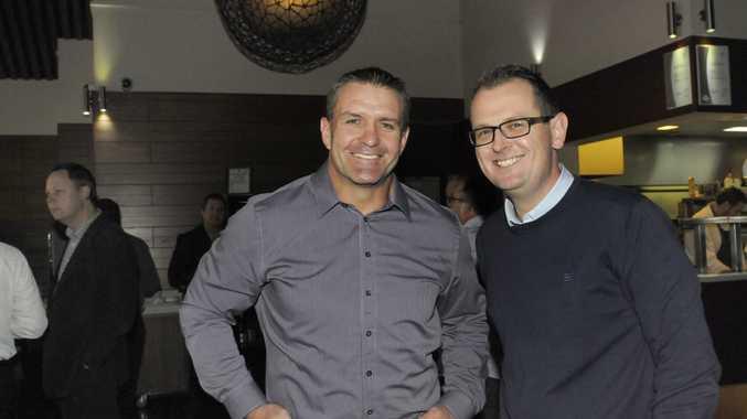 Shane Webcke with Brad Fitzgibons.