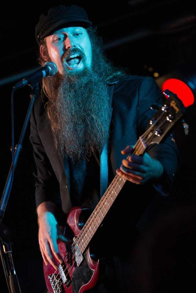 Nathaniel Beard of The Beards, performing live Thursday night at the Harvey Road Tavern.