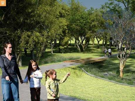 Opponents to detention basins being built in Garnet Lehmann and Ballin Drive parks do not believe the artist impressions released by council are realistic.