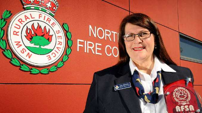 SO PROUD: Lisa Edmonds has taken out the 2014 Rural Fire service Association member of the year.