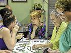 GREEN STATEMENT: Miranda Manifold at the Gecko Valley Winery Shades of Green gemstone seminar.
