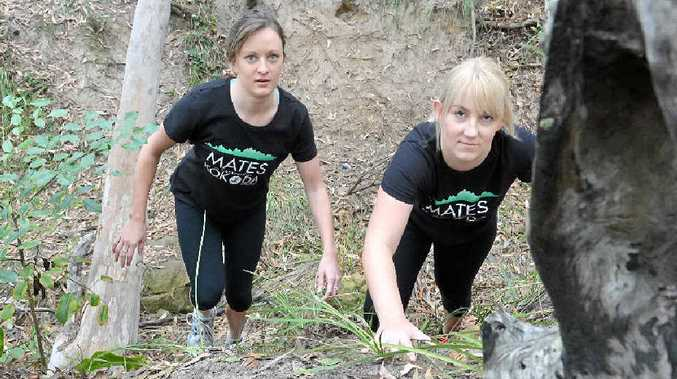 FIT FOR CHARITY: Danielle Adair and Joanne Clark are training to take on the 96km Kokoda Track for a worthy cause.