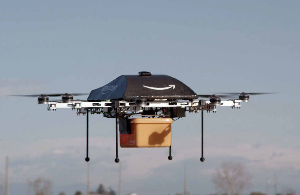 AMBITIOUS: An Amazon.com image showing the so-called Prime Air unmanned aircraft project that would see Amazon packages delivered by drone.