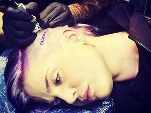 Kelly Osbourne gets head tattoo