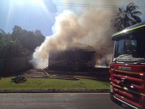 Mudjimba house fire took four crews to put out