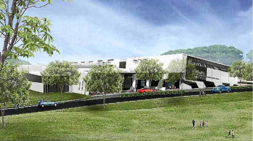 PLANS ON HOLD: An artist's impression of the proposed Multiplex Building at the old Bundaberg showgrounds.