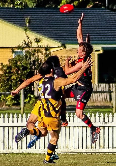 TEAM EFFORT: Ballina Bombers had a 66-60 win against the Tweed Tigers in AFL Queensland Division B at Fripp Oval, Ballina on Saturday.