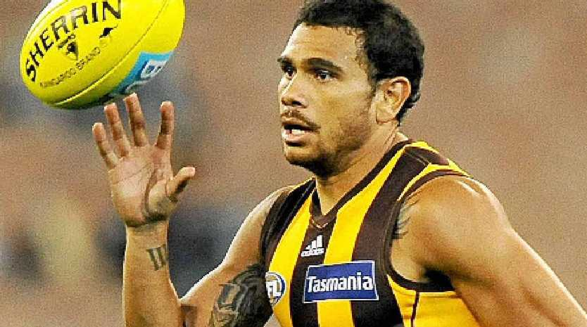 Hawthorn Hawks champion small forward Cyril Rioli.